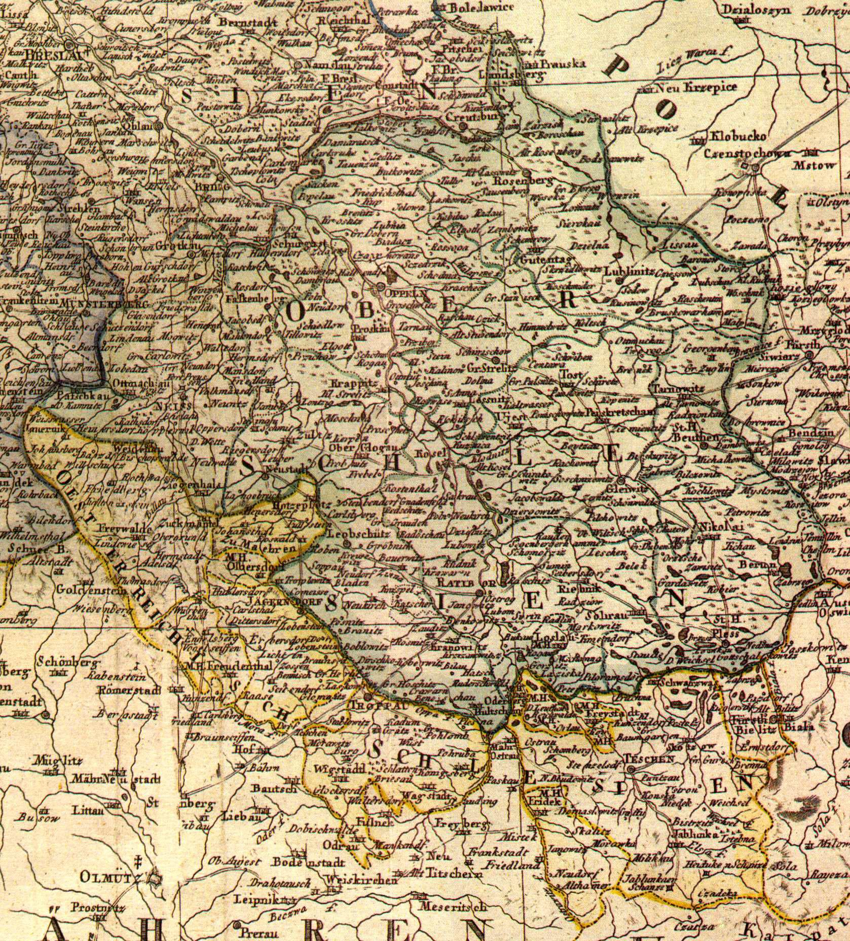 schlesien karte deutsch Links: Historische Karten von Schlesien