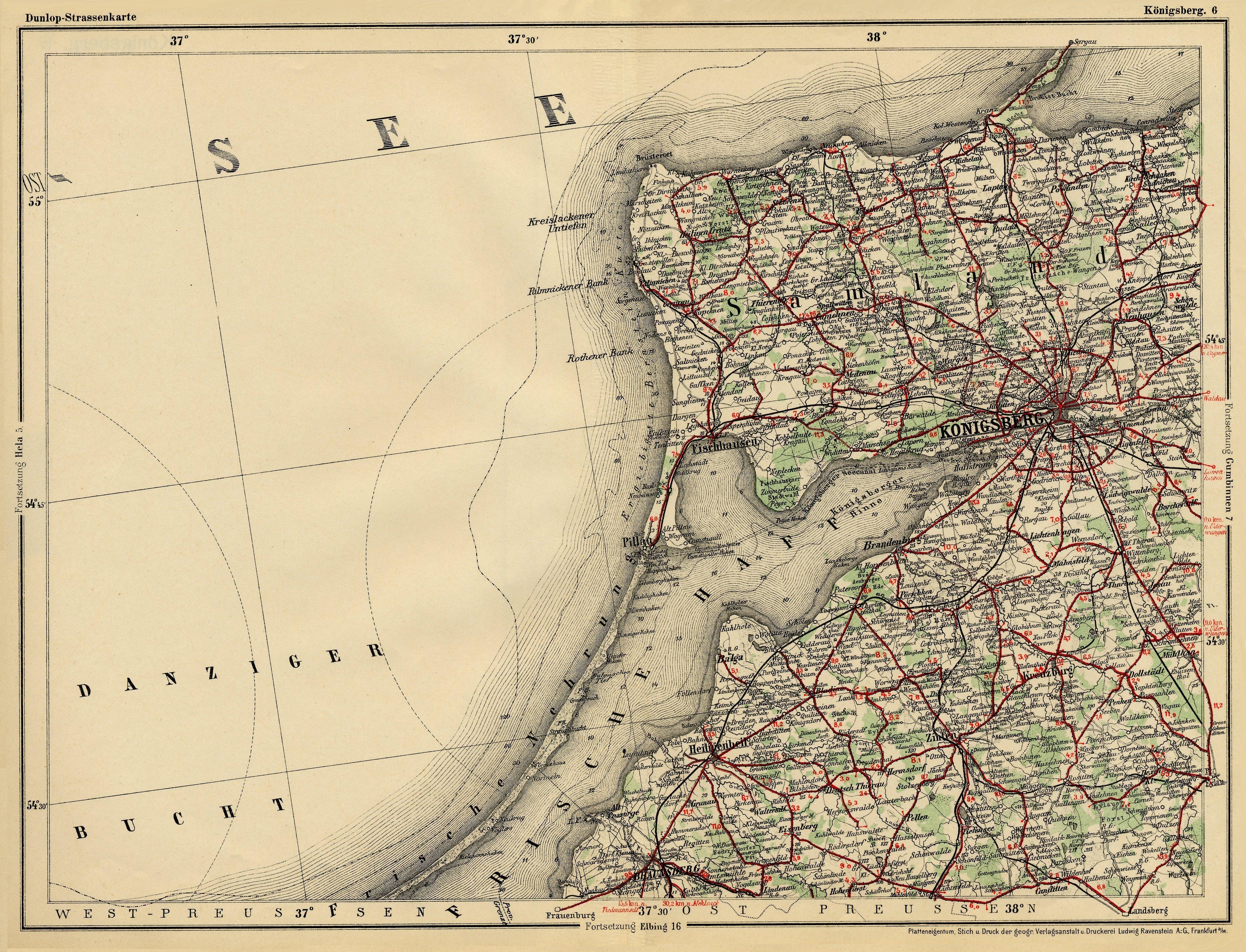 Königsberg Kaliningrad Karte.The Internet Polish Genealogical Source